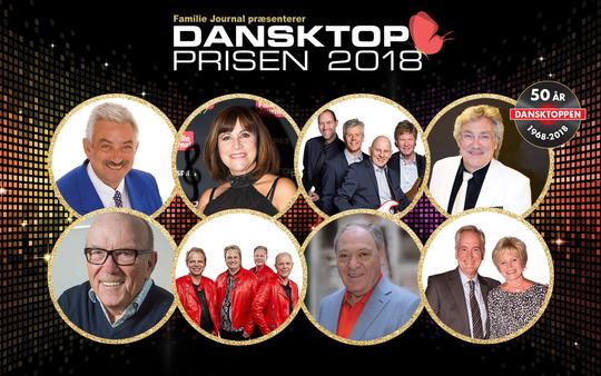 De største dansktop artister klar til Dansktop Prisen2018